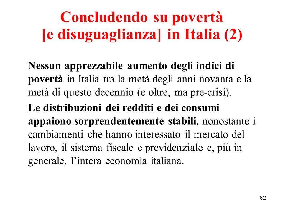 Concludendo su povertà [e disuguaglianza] in Italia (2)